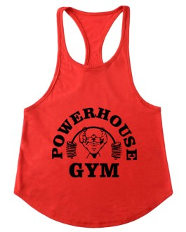 New Stylish Hem Printed Mens Gym Fitness Stringer Tank Top Collection