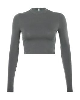 Basic Crop Top Elegant Ladies Autumn Clubwear T Shirt Casual Female LOGO Custom Tops for women Collection