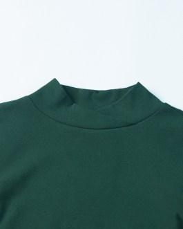 Women Turtle Neck Elegant Autumn Streetwear T Shirt Casual Custom LOGO for Women Collection