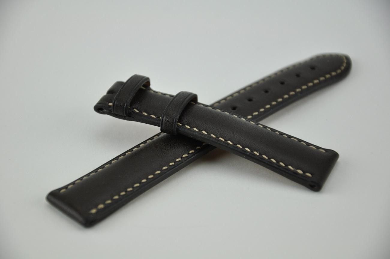 Bracelet cousu main sur-mesure pour montre Zénith. Fabrication française maroquiniers de luxe LE NOËN