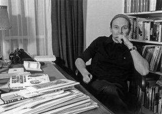Michel Tournier  romancier francais ici en 1982  --- Michel Tournier  french novelist here in 1982