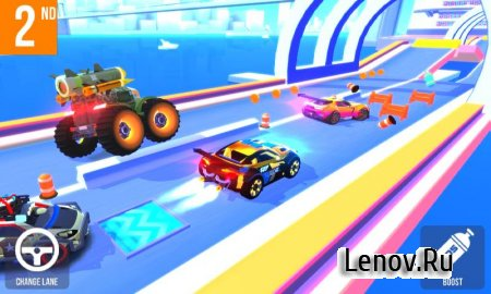 SUP Multiplayer Racing (обновлено v 1.42) Мод (Unlimited Coins/Gems/Energy/Car Skins Unlocked)
