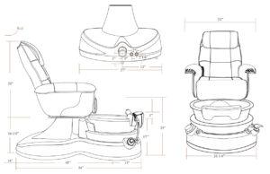 Lenox DS Pedicure Spa Chair