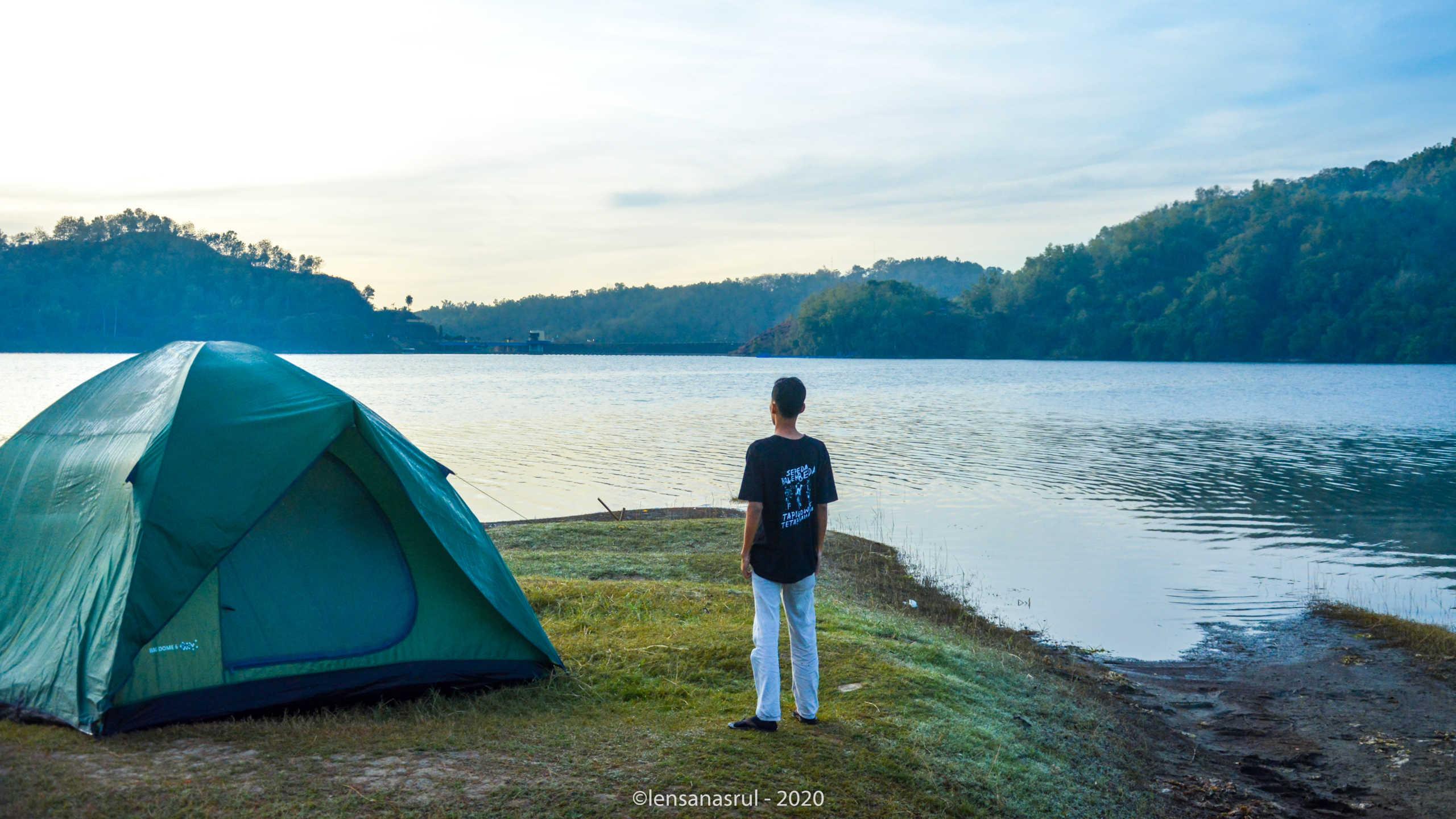 Beginilah, Camping Perdana Waduk Sermo di Musim Pandemi Covid-19