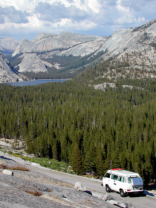 stopping above Tenaya Lake in Yosemite's high country