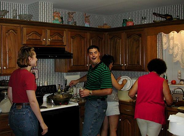 Fritz in the kitchen