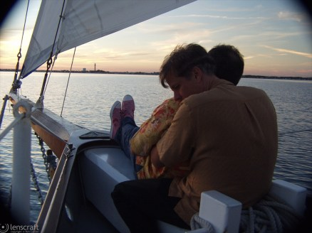 cuddling on the bow / provincetown, massachusetts