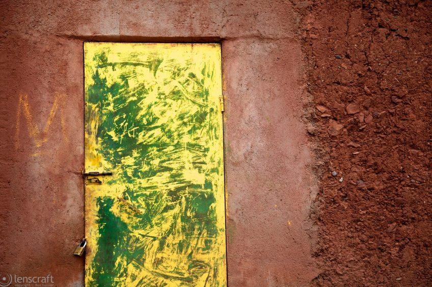 the yellow-and-green door / ouirgane, morocco