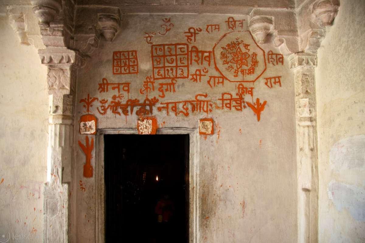 shrine, with its resident crone / kumbhalgarh, india