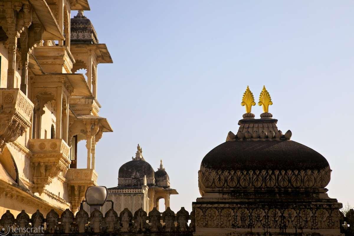 city palace balconies / udaipur, india
