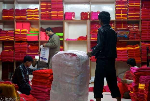 primarily red fabrics / jodhpur, india