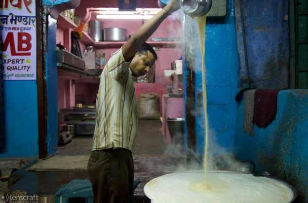making curd / jodhpur, india