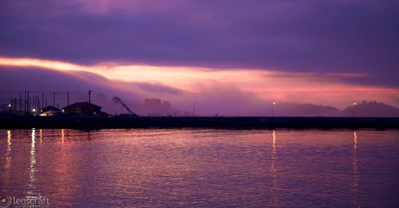 dawn fog / richmond bridge, richmond, ca