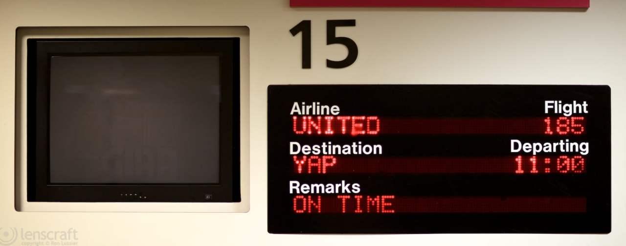 flight to yap / guam international airport