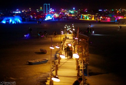 the pier and the big city / black rock city, nevada