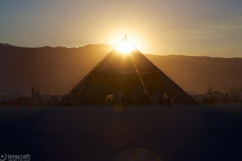 osirus at sunset / black rock city, nevada