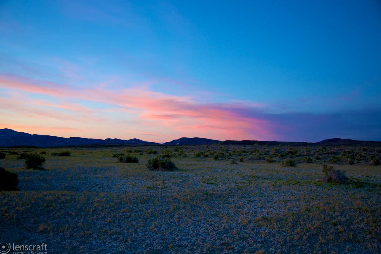 sunset / black rock, nevada