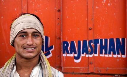 the rajasthani trucker / mandore, india