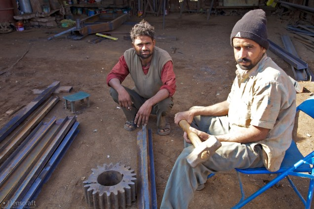 the iron workers / pokaran, india