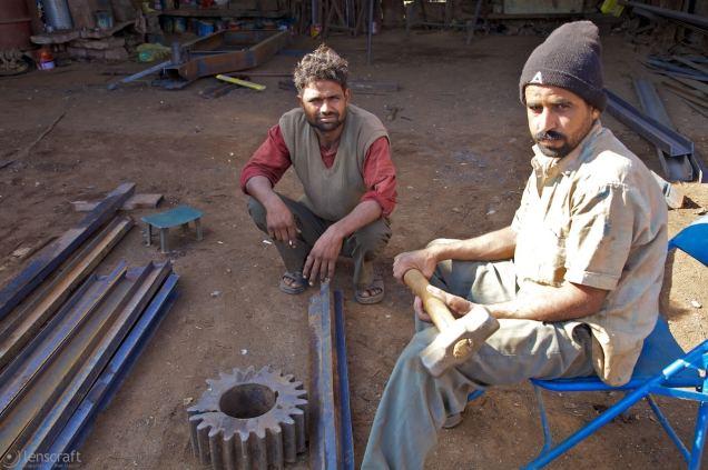 the iron workers / pokaran, india