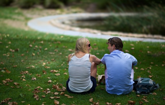 flirtation in the grass / sonoma, california