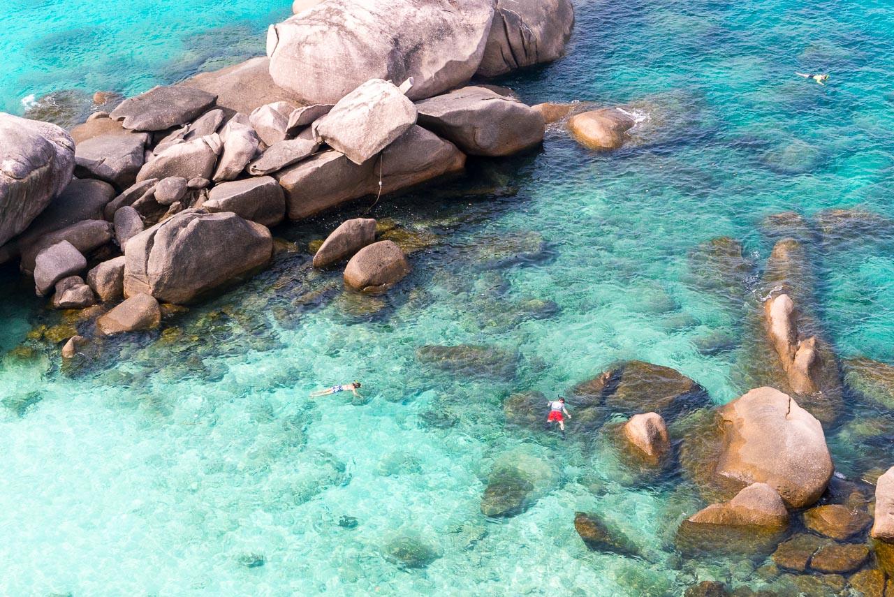 snorkeling on koh simlan / andaman sea, thailand