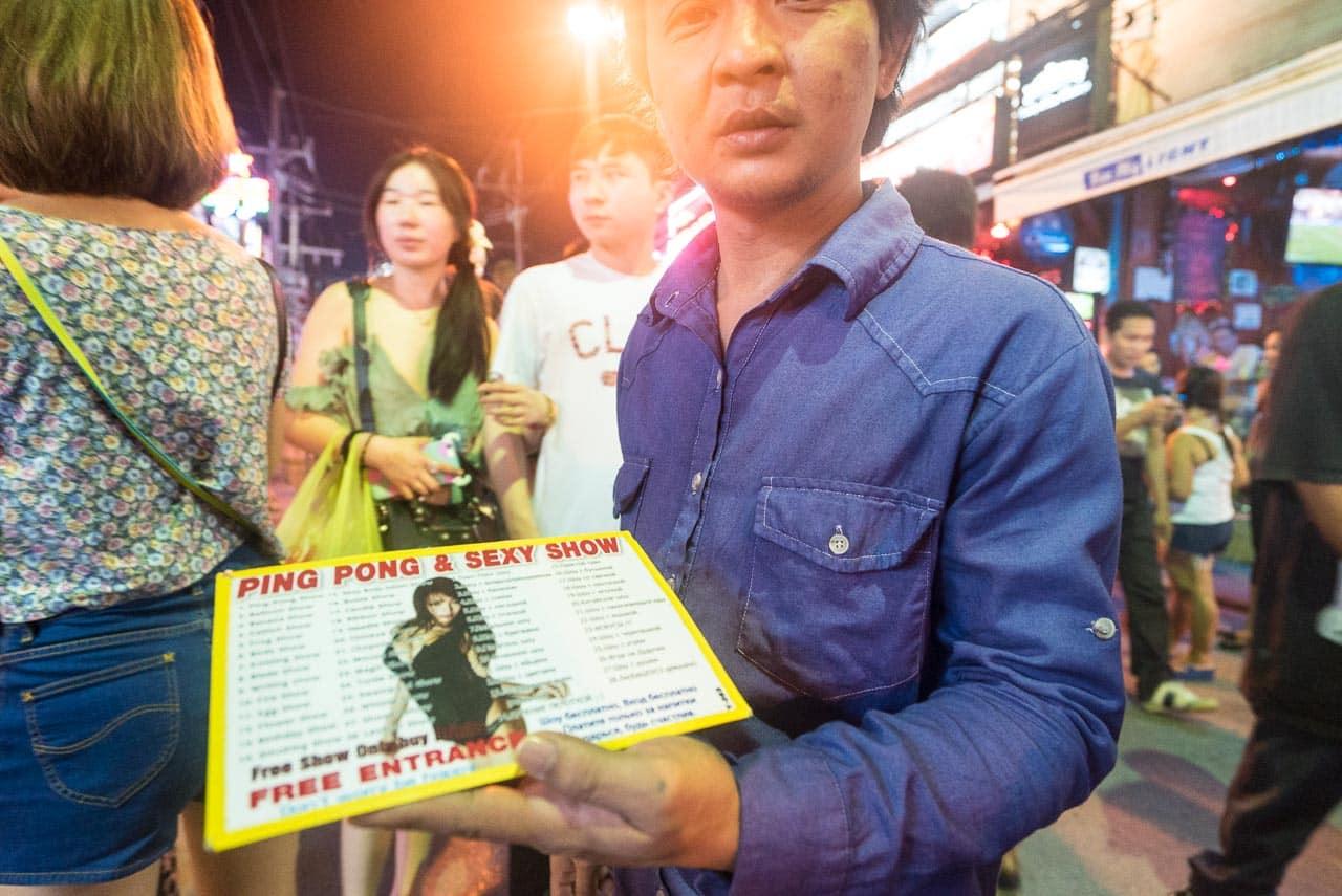 ping pong with elvira / patong, thailand