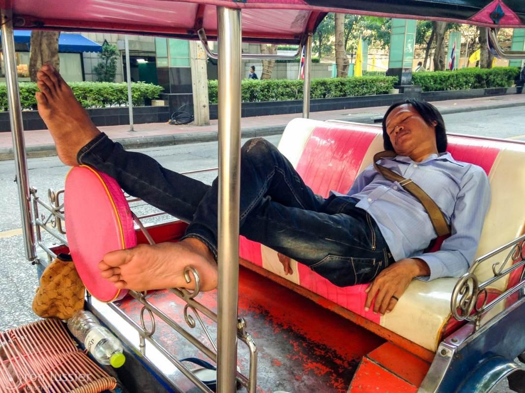 the tuktuk driver / bangkok, thailand