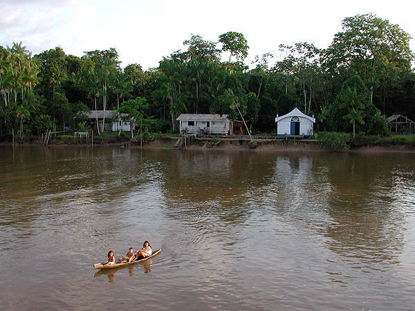 A small Amazon settlement. (Note the church.)