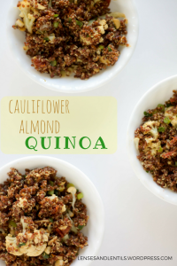 cauliflower almond quinoa bowls