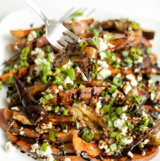 sweet potato eggplant wedge salad