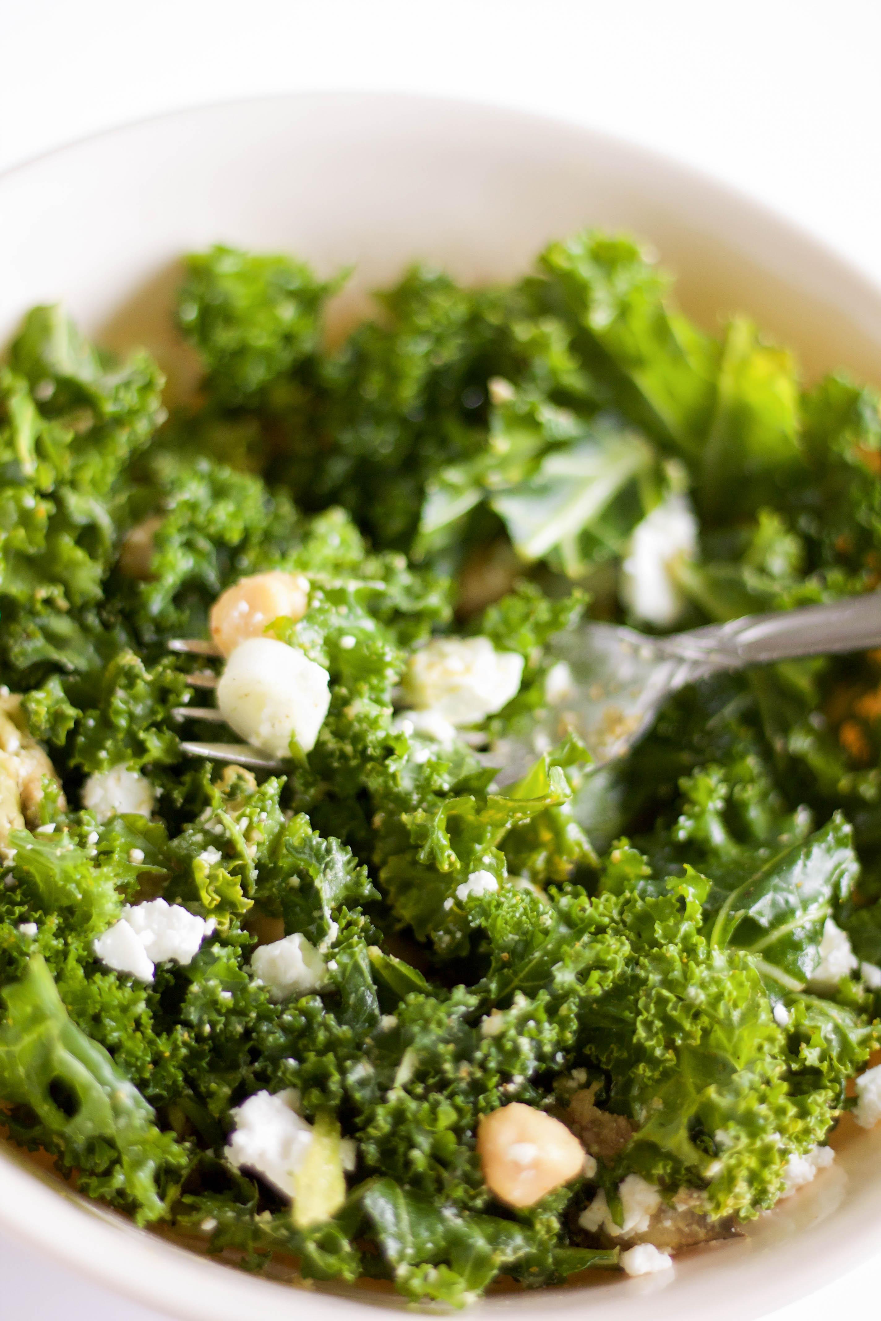 curried kale salad