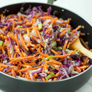 thai cabbage slaw {nut-free, Whole30, paleo, vegan}