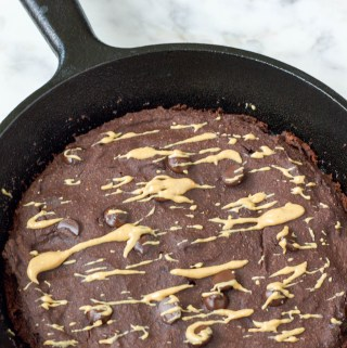vegan double chocolate peanut butter pancake