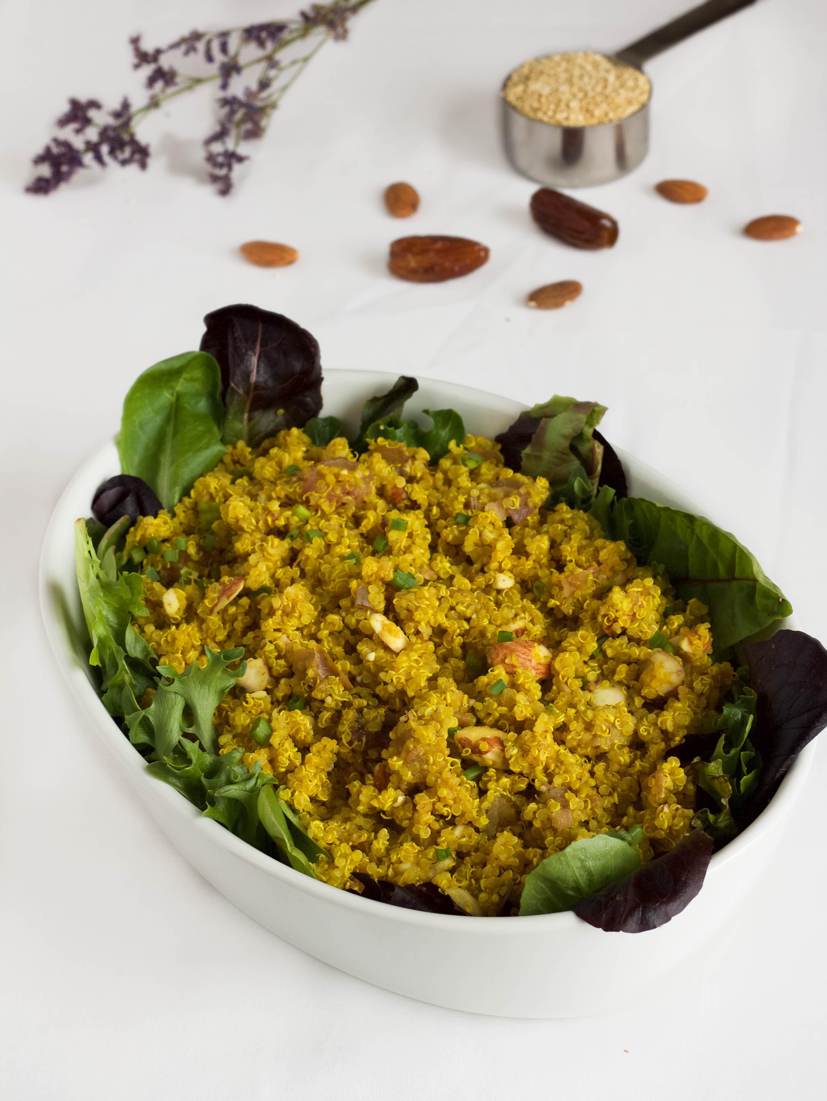 almond date indian quinoa salad