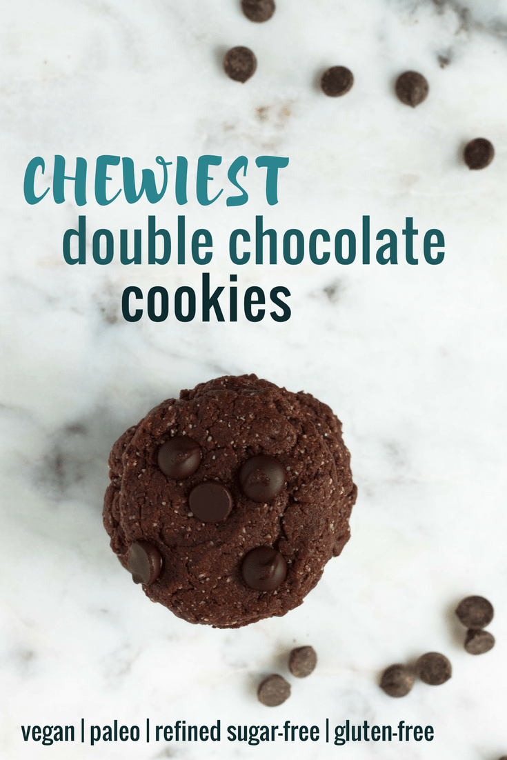 chewiest double chocolate cookies
