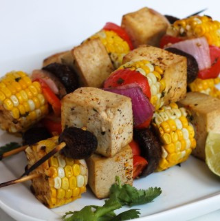 grilled honey lime tofu kebabs