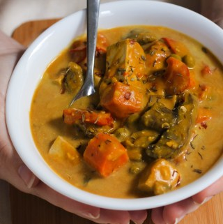 slow-cooker pumpkin tofu stew