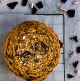 peppermint chocolate chunk pan-banging cookies