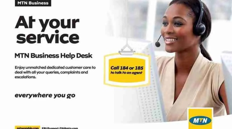MTN Help desk for corporate customers