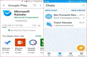 Microsoft Kaizala is a mobile phone app