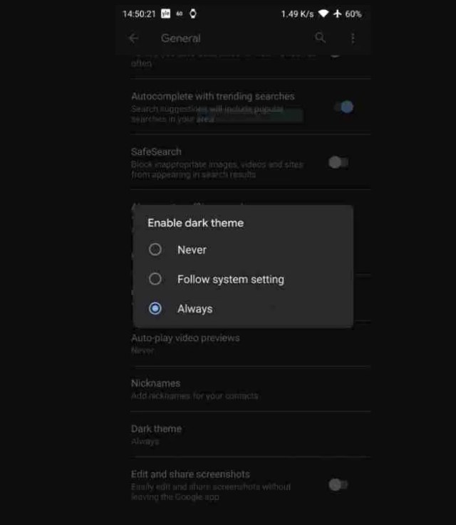 Dark Mode Comes To Android Chrome 1