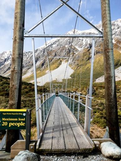 Mount Cook bridge sign-1