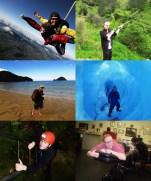 skydiving - clay-shooting - walking on the abel tasman - exploring the franz josef glacier - exploring the waitomo caves - getting my tattoo