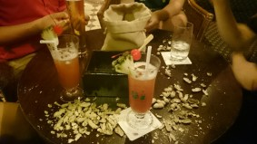 Singapore Sling at the Raffles Hotel