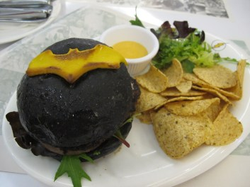 Batman Burger at the Superheros Cafe at the MBS