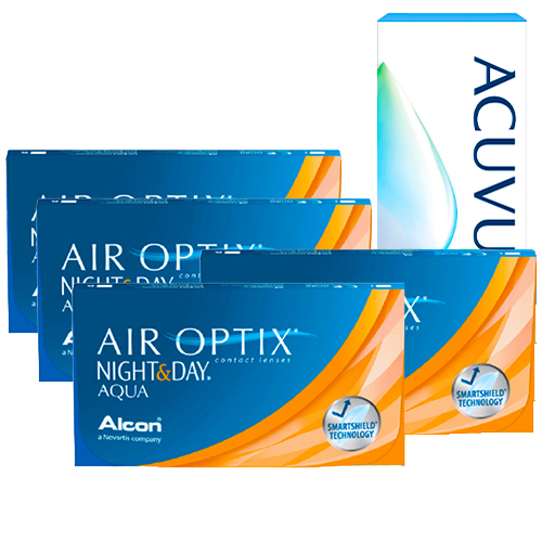 air optix night and day aqua set 4 kutu