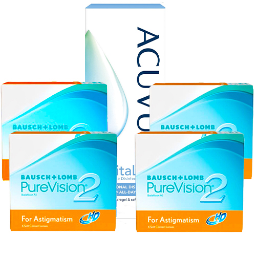 purevision 2 hd for astigmatism 4 kutu set