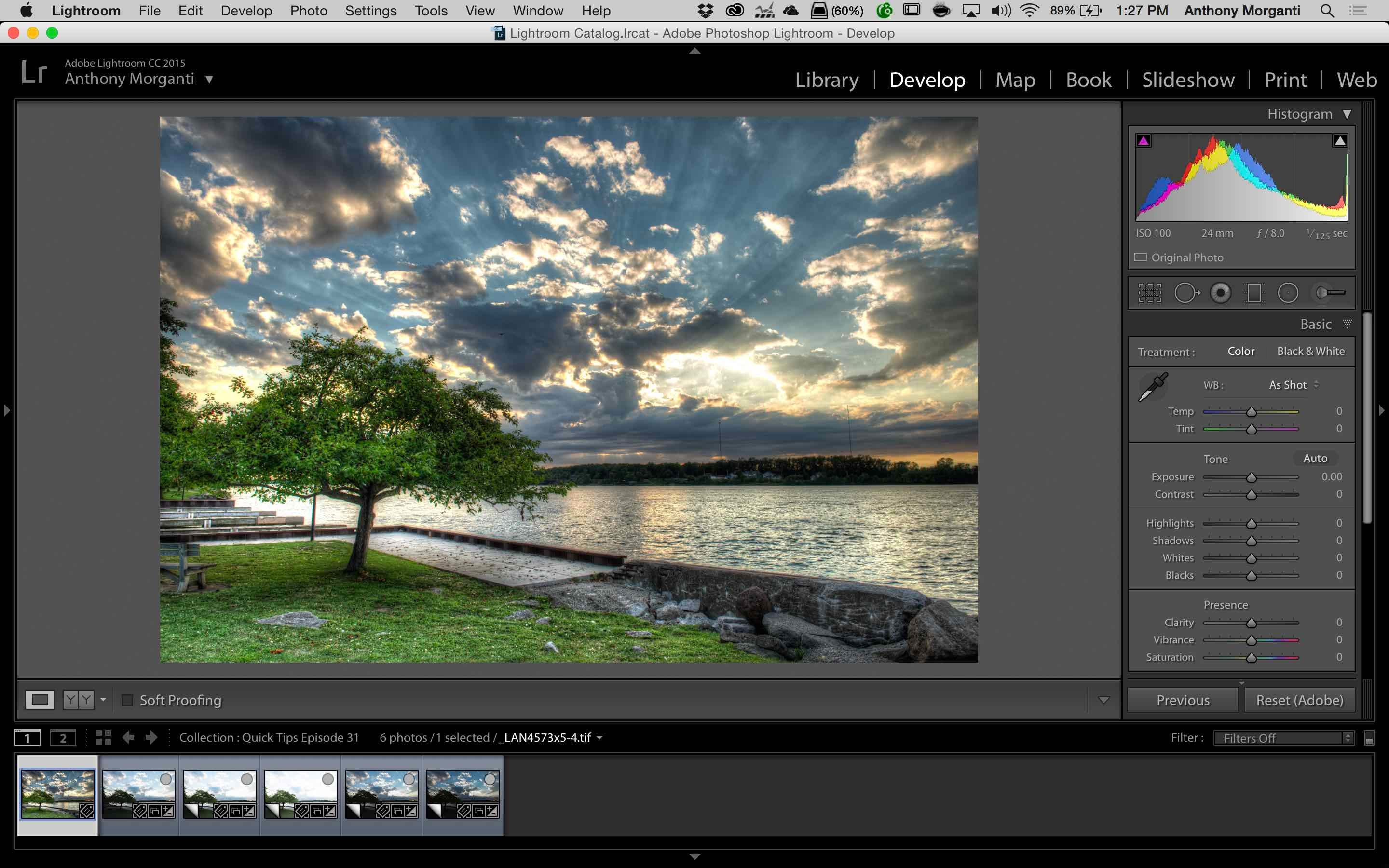 How to Create an HDR From a Single Image in Lightroom and