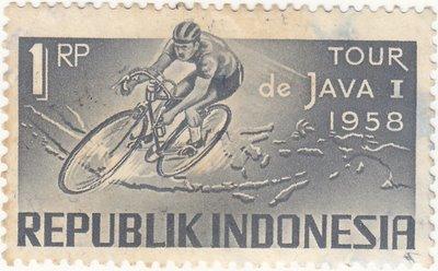 Perangko Peringatan Tour De Java 1958